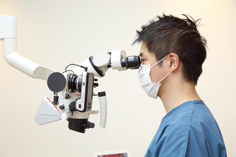 (3)CTや顕微鏡を用いた根管治療